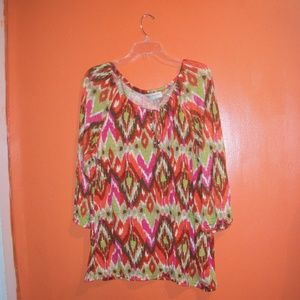 JONES NEW YORK WOMENS MULTI-COLOR TOP